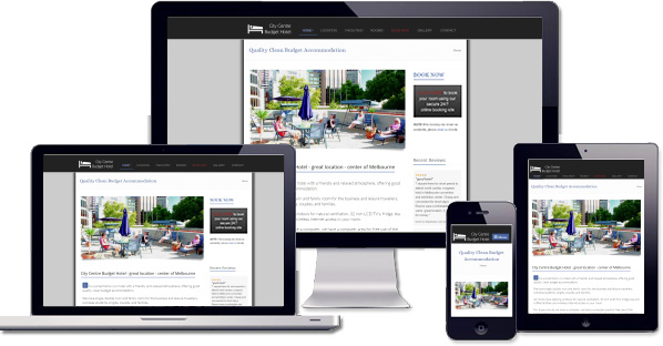 Customised responsive website created for City Centre Budget Hotel