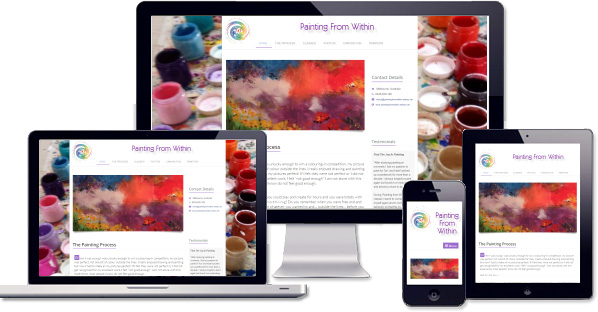 Customised responsive website created for Painting From Within