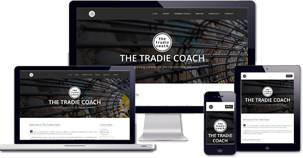 Customised responsive website created for The Tradie Coach